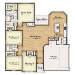 Color Floor Plan 9