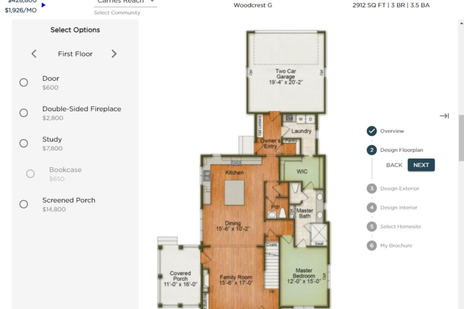 Full Color Interactive Floor Plan